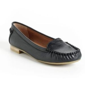 Lucky brand black leather loafers 7